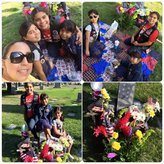 Cardenez Family at dads grave (1)